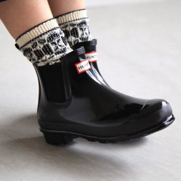 huge selection of website for discount factory price Hunter Shoes | Womens Refined Slim Fit Gloss Chelsea Boots Size8 ...